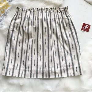 J.Crew Factory • Cream/Navy Pull On Skirt